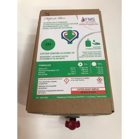 Solution hydro-alcoolique (cubi 5L)